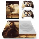 Tristan and Isolde painting skin decal for Xbox one S console and controllers