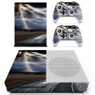 Lightning cloudy sky with road view skin decal for Xbox one S console and controllers