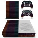 Wooden board skin decal for Xbox one Slim console and controllers