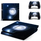 Bright Moon decal for PS4 PlayStation 4 console and 2 controllers