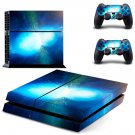Bursting Moon decal for PS4 PlayStation 4 console and 2 controllers