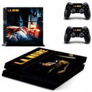 L A Noire decal for PS4 PlayStation 4 console and 2 controllers