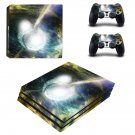Bursting Moon ps4 pro skin decal for console and controllers