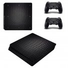 Black Geometry Round ps4 slim skin decal for console and controllers