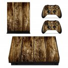 Rusted Wooden Texture xbox one X skin decal for console and 2 controllers