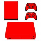 Red xbox one X skin decal for console and 2 controllers