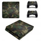 US Woodland Camouflage ps4 slim skin decal for console and controllers