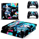 Hatsune Miku Project DIVA decal for PS4 PlayStation 4 console and 2 controllers
