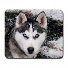 Siberian Husky At Snow Winter Mousepad Non Slip Neoprene