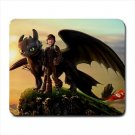 How to Train Your Dragon Toothless and Hiccup Mousepad Non Slip Neoprene