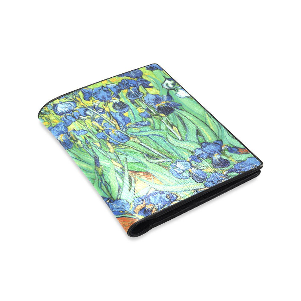 Irises Van Gogh Leather Wallet