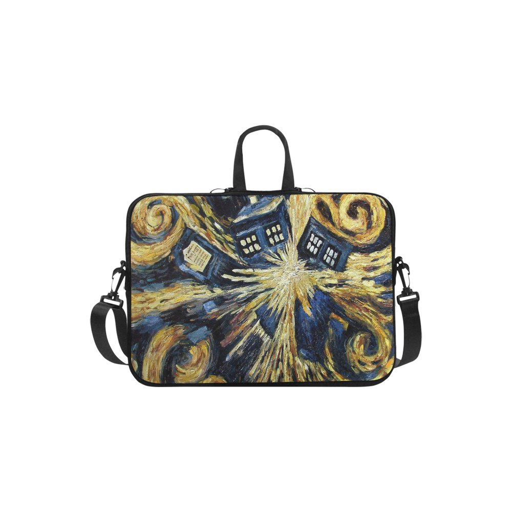Police Box Tardis Explosion Sleeve Case Shoulder Bag for Laptop 15""
