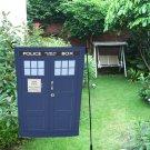 "Police Box Phone Box Tardis Event Garden Flag 12"" x 18"""