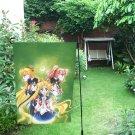 "Sailor Moon and Friends Garden Flag 12"" x 18"""