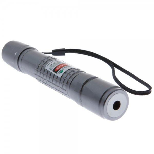 5mW Extension-Type Focus Green Dot Pattern Facula Laser Pointer Pen Silver