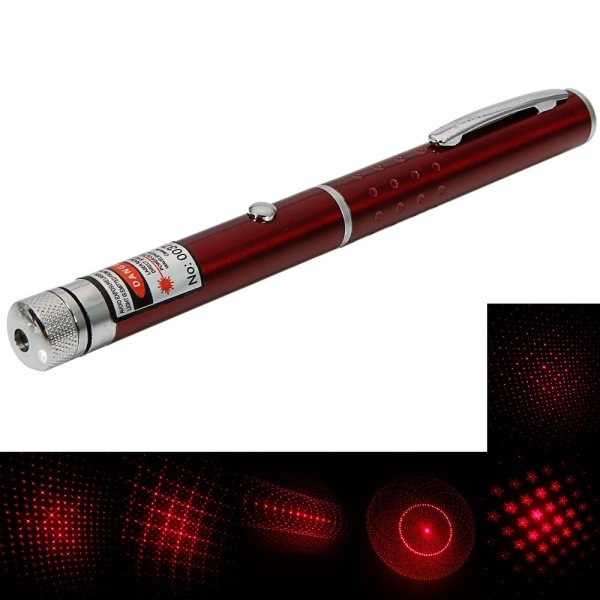 1mW 650nm Red Beam Light Starry Light Style Middle-open Laser Pointer Pen Red
