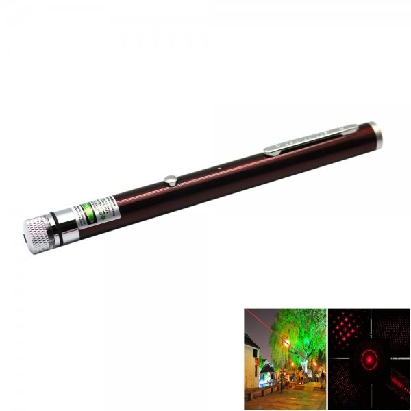 5-in-1 5mw 650nm Red Laser Beam USB Laser Pointer Pen with USB Cable and Laser Heads Red