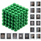 125pcs 5mm DIY Buckyballs Neocube Magic Beads Magnetic Toy Green