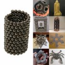 216pcs 3mm DIY Buckyballs Neocube Magic Beads Magnetic Toy Black