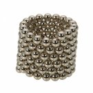 216pcs 3mm DIY Buckyballs Neocube Magic Beads Magnetic Toy Silver