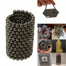 216pcs 5mm DIY Buckyballs Neocube Magic Beads Magnetic Toy Black