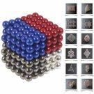 216pcs 5mm DIY Buckyballs Neocube Magic Beads Magnetic Toy Black & White & Red & Dark Blue