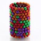 216pcs 5mm DIY Buckyballs Neocube Magic Beads Magnetic Toy Green & Red & Orange & Purple