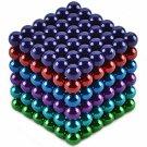 216pcs CHEERLINK CN-216 5mm Neodymium Magnet Balls DIY Puzzle Set Multicolored