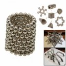 432pcs 3mm DIY Buckyballs Neocube Magic Beads Magnetic Toy Silver