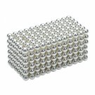 432pcs CHEERLINK XB-01 3mm DIY Neodymium Iron Magnetic Balls Educational Toys Set Silver White