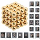 64pcs 5mm Buckyballs Neocube Magic Beads Magnetic Toy Golden