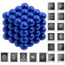 64pcs 5mm DIY Buckyballs Neocube Magic Beads Magnetic Toy Dark Blue