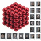 64pcs 5mm DIY Buckyballs Neocube Magic Beads Magnetic Toy Red