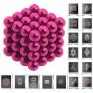 64pcs 5mm DIY Buckyballs Neocube Magic Beads Magnetic Toy Rose Red