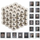 64pcs 5mm DIY Buckyballs Neocube Magic Beads Magnetic Toy Silver white