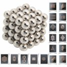 64pcs 6mm DIY Buckyballs Neocube Magic Beads Magnetic Toy Silver