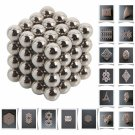 64pcs 7mm DIY Buckyballs Neocube Magic Beads Magnetic Toy Silver