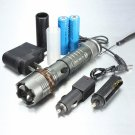 Ultrafire Cree XM-L T6 2000LM 3 Modes Waterproof Lotus Head LED Flashlight Suit Gray (US AC Adapter)