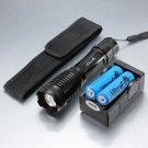 CREE XM-L T6 LED 1800LM 5-Mode White Light Flashlight Black