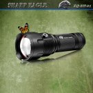 3*CREE XML-XPE Multifunctional 1600LM 6-Mode White & Blue & Yellow Light Portable Flashlight Black