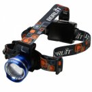 New Model 2166 T6 High Brightness Tensile Focusing Headlamp Blue (3*AA)