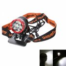 Cree XM-LU2 LEDs 1200 Lumen 3 Modes Rechargeable Hard Light Bicycle Light Headlamp Black + Red