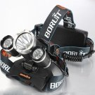 Cree XML 3*T6 5000LM 4 Modes LED Headlamp Set Black (UK Standard Adapter)