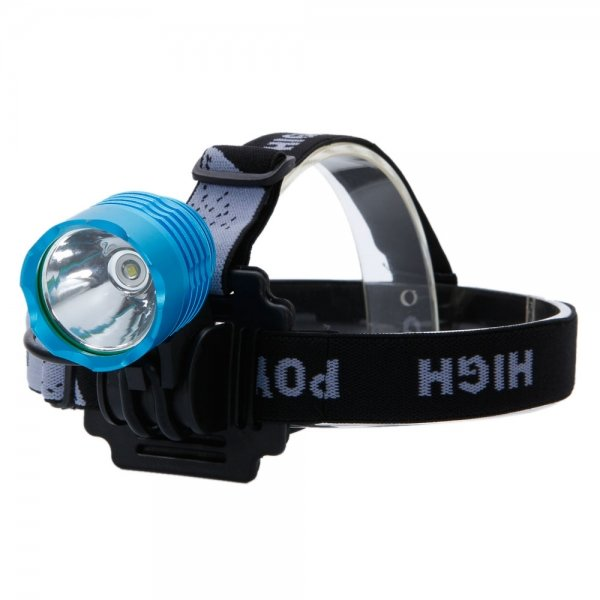 001 CREE XML T6 1600LM 3-Mode Aluminum Alloy Bike Lamp with IPX-65 Waterproof Blue