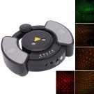 Mini Red & Green Laser Stage Lighting with MP3 Speaker & 1GB Memory Black