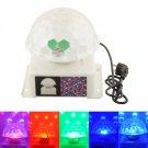 20W Rotatable Sound Control RGB LED DJ Stage Lighting White (220V)