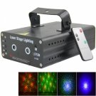 LT-628RGB 50mw/100mw Dual Eyes Green and Red Stage Light with Remote Controller Black