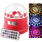 RGB Light Rechargeable Remote Control Mini LED Stage Light with Card Slot Red