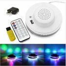 8W 48LEDs RGB Sunflower Shaped Stage Light with Remote Controller White (US/EU Standard Plug)