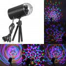 LED RGB Voice Control Rotating Disco Stage Light Black (US/EU Standard Plug)